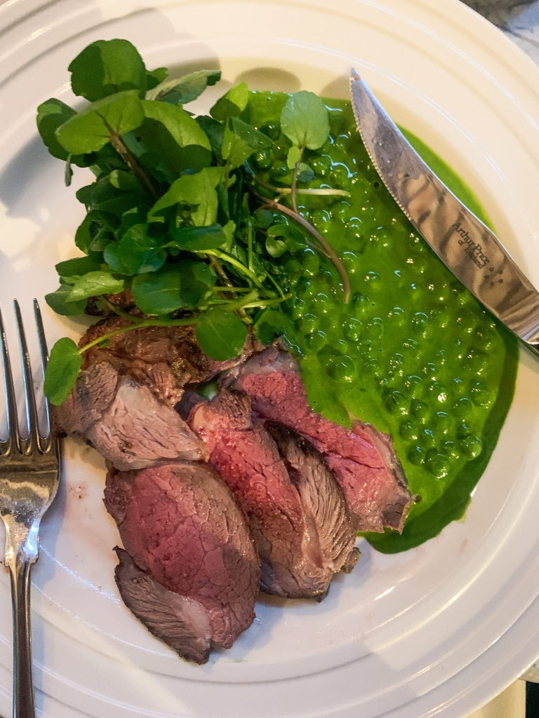 Hogget with Peas, Anchovy & Parsley Sauce